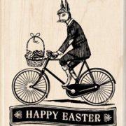 Paashaas op fiets
